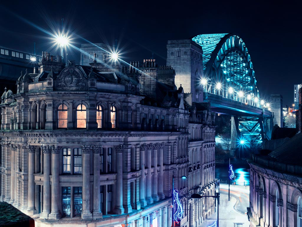 Private investigator Newcastle skyline overlooking the Tyne Bridge