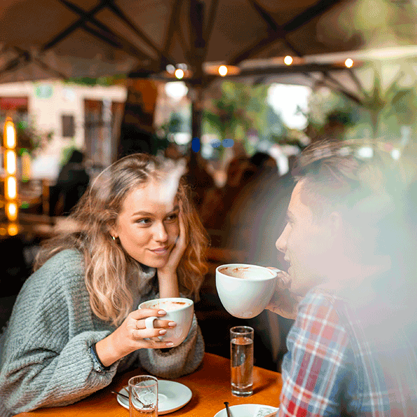 Private Investigator in Bradford drinking coffee together