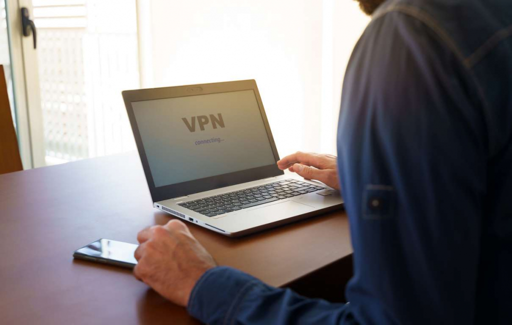 Someone connecting to a VPN service so that they can avoid computer crime against them